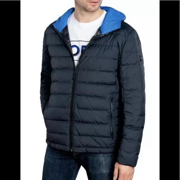 Michael Kors lightweight puffer jacket dark blue
